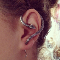 Snake Ear Cuff in Silver or Gold