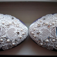 Lace Wedding Shoes by beccaandlouise