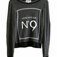 Wildfox Love Potion No 9 Baggy Beach Jumper in Clean Black