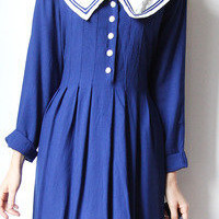 tea and tulips boutique - one of a kind vintage. — cobalt sailors dress