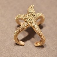 Cute Starfish Ring-Ariel,Adjustable ring, Personalized Stars&#x27; Jewelry Gift for Girls, Women Ring  R1