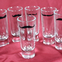 The Mustache Shot Glass Set - 6 glasses
