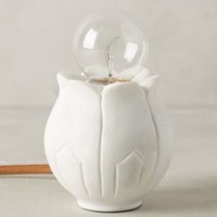 Flower Bud Lamp Base by Anthropologie White One Size Lighting
