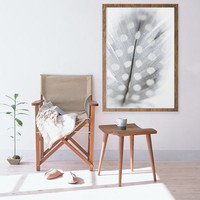 Still Life photography, Feather Print, Polka Dot Feather, large Print, Neutral Colors, Large Feather Print