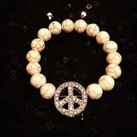 Silver Peace Sign Bracelet from La Fede Boutique