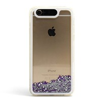 "LifeBox Glow Apple iPhone 6 Case 4.7"" Dual Layer Hybrid Bumper Double Protection with Liquid Infused Glow in the Dark Fluoroscent with Glitter and Stars - Retail Package - Diamond"