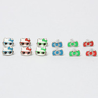 The Hello Kitty So Chill 6 Pack Stud Earrings