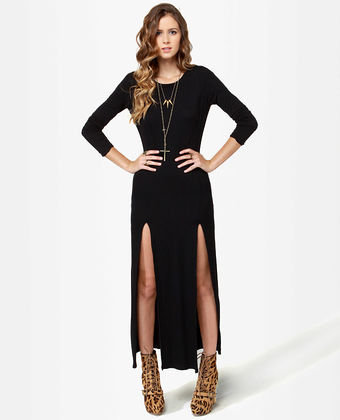 Long Sleeve Maxi Dress on Sexy Maxi Dress   Black Dress   Backless Dress   Long Sleeve Dress