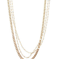 One Oak   Claire Gold Moonstone Necklace - Gold