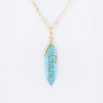 Daed Rock Necklace - Green - 0/S