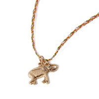 Longline Elephant Charm Necklace