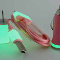 Pink Glow in the Dark iPhone Charger