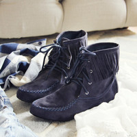 Navy Canyon Moccasins
