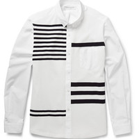 Tomorrowland - Striped Knitted and Cotton-Poplin Shirt | MR PORTER
