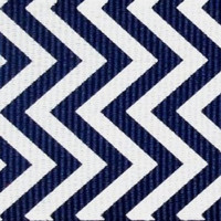 "Grosgrain Ribbon, 7/8"" Chevron Grosgrain Ribbon--Navy Blue, sold by the yard, craft supply"