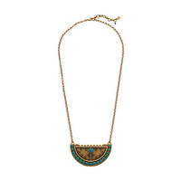 Lucky Brand Gold and Turquoise Shield Necklace