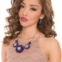 Miliana Necklace Set - Navy - One Size / Navy