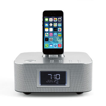 Bluetooth® Clock Radio with Lightning™ Connector Dock