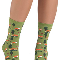Do Re Mi Fox Socks | Mod Retro Vintage Socks | ModCloth.com