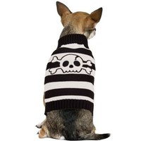 Striped Skeleton Dog Sweater - Party City