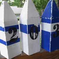OOAK Reclaimed Wooden Buoys Set of 3. Made to Order. Lake decor Nautical Decor. Beach Decor