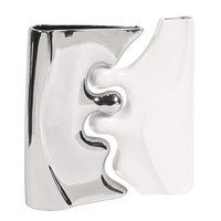 Howard Elliott Contemporary 2 Piece Ceramic Puzzle Vase Set