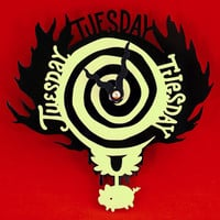 Glow In the Dark Supernatural Clock - Eternal Tuesday Mystery Spot Clock - Today Is Tuesday Clock