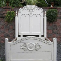 STUNNING Shabby COTTAGE cHiC Full Double Wedding BED by picks4u