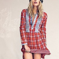 Free People Freeport Plaid Shirtdress