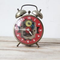 Vintage Visible Workings Alarm Clock