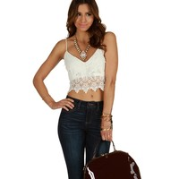 Ivory Havana Crochet Crop Top