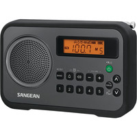 Sangean Am And Fm Digital Portable Receiver With Alarm Clock (black) - Sangean Am And Fm Digital Portable Receiver With Alarm Clock (black)