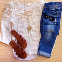 Brenda Lace Top - Ivory