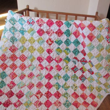 Baby Girl Quilt Patchwork Baby Quilt