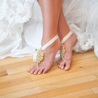 Chante Bridal Barefoot Sandals - Foot Jewelry - Featured in Destination Wedding