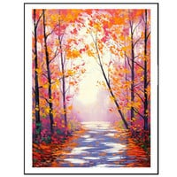 gercken AUTUMN OIL PAINTING commissioned fall trees impressionism