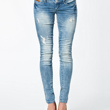 Coral Superlow Skinny Jeans, Only