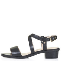 HEARTBEAT Heeled Sandal - Black