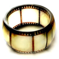 old film negative hand cast resin bangle  bracelet  by bethtastic