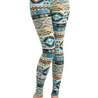Girls Who Like Turquoise Leggings | Mod Retro Vintage Pants | ModCloth.com