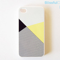 iphone case - lemon black color block with stripe
