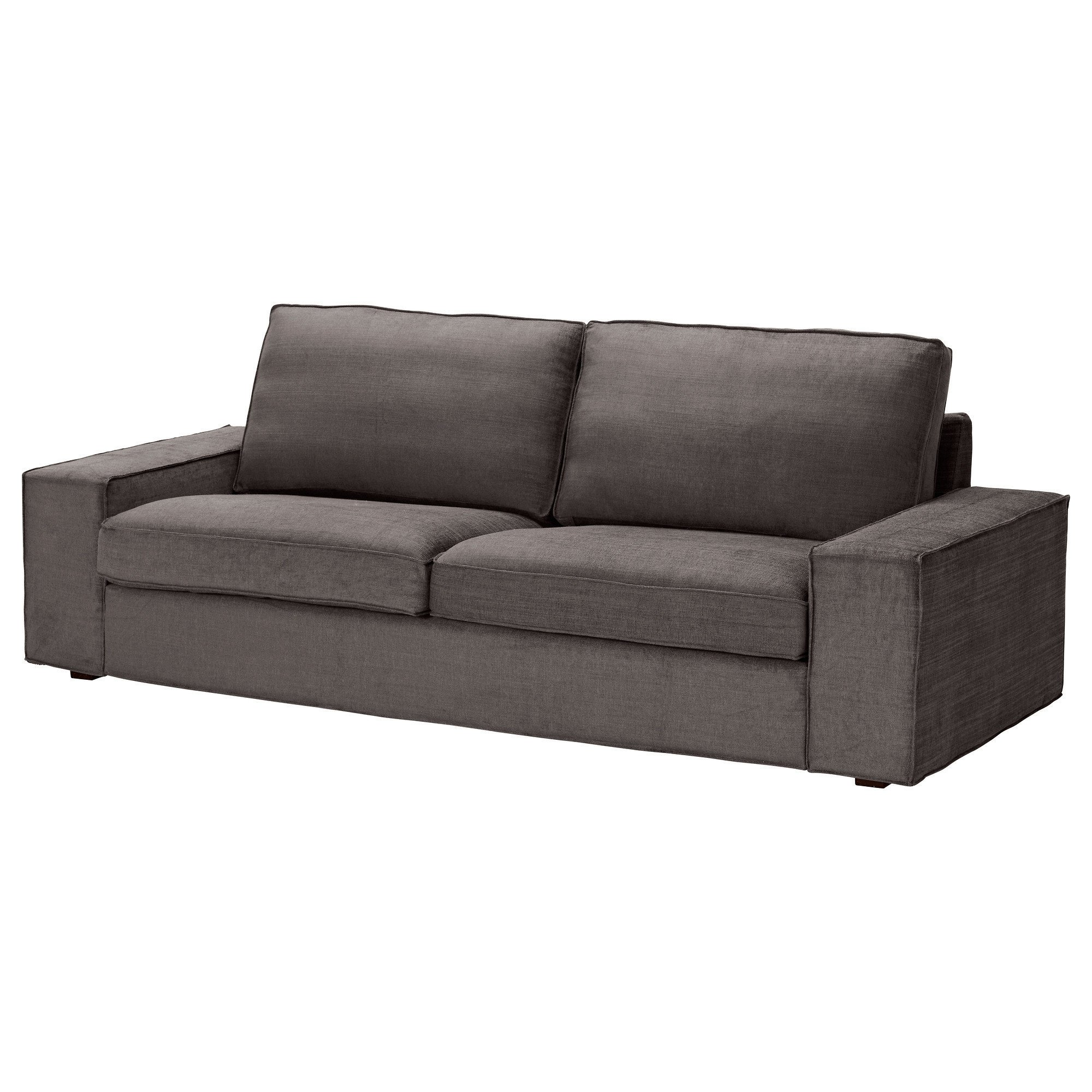 Kivik sofa tullinge gray brown ikea from ikea for Ikea gray sofa