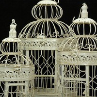 Bird Cages Set of 3  (21,18 &amp; 14&quot; tall)  Cream White  &amp;#36;37 set