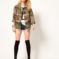 Hearts & Bows Vintage Army Camo Jacket at asos.com