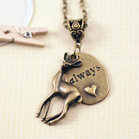 Harry Potter Always Snape Necklace (bronze tone)