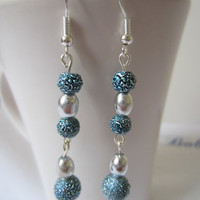 Metallic Blue Earrings