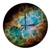 Crab Nebula Wall Clock from Zazzle.com