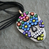 Day of the Dead Sugar Skull Pendant No. 1