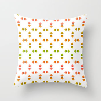 spring pattern Throw Pillow by VanessaGF