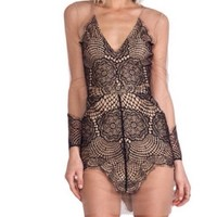 For Love And Lemons Antiqua Mini Dress Size Small New No Tags